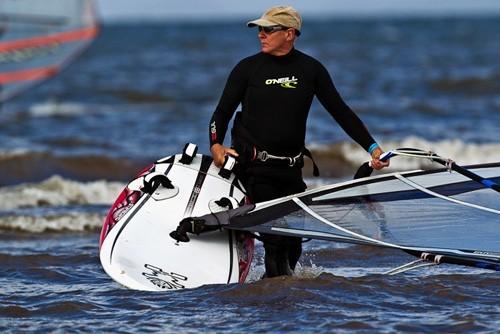 Eddy Jackson MBE 100 mile charity windsurfer