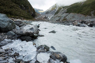 Water cycle glacier river