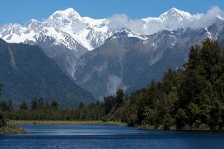 Water cycle glacier river