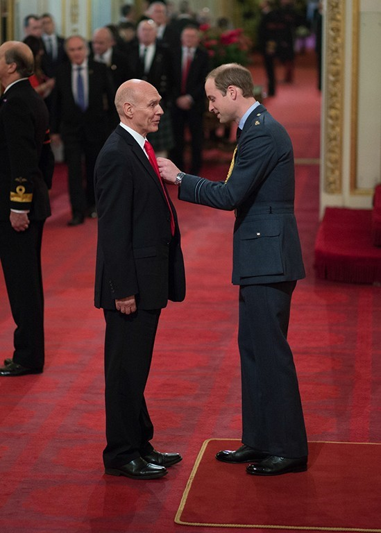 Buckingham Palace Prince William MBE Investiture