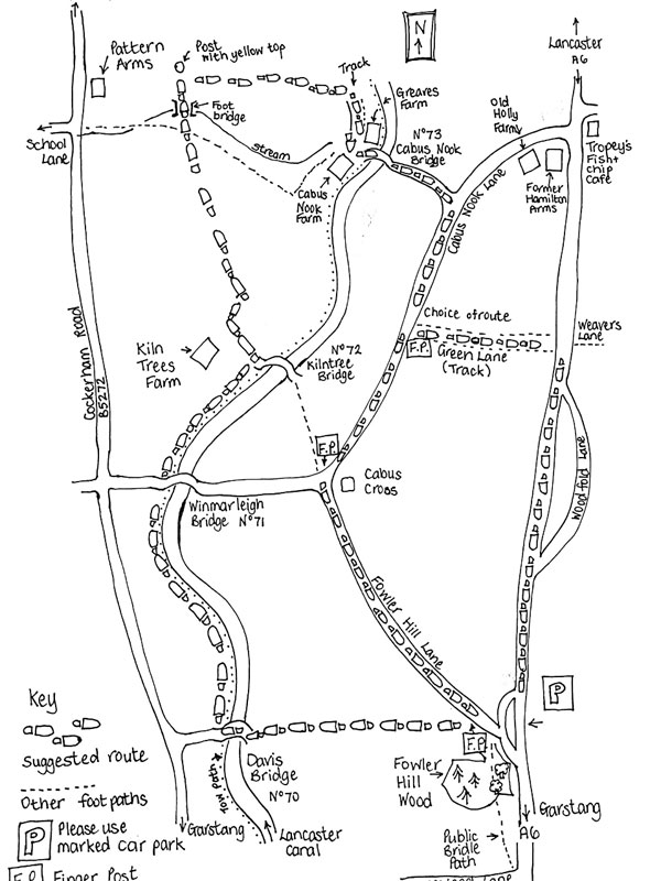Roman-Road-Cabus-Lancashire-Map