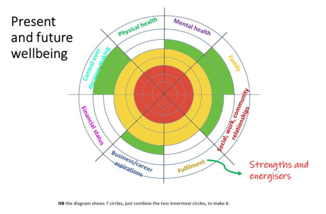 Catherine Dobson Wellbeing Wheel Mental health organizational audit for the workplace and individuals